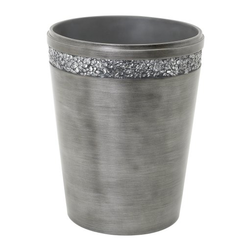 Zenna Home, India Ink Altair Waste Basket, Pewter from Zenna Home