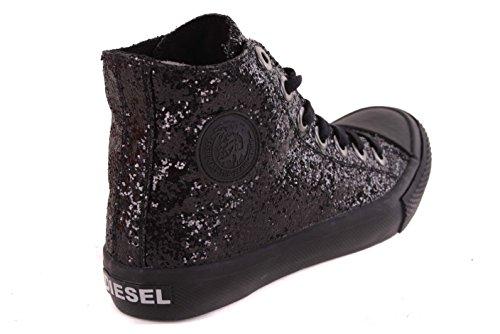 DIESEL Baskets femme bottes hautes chaussure noire