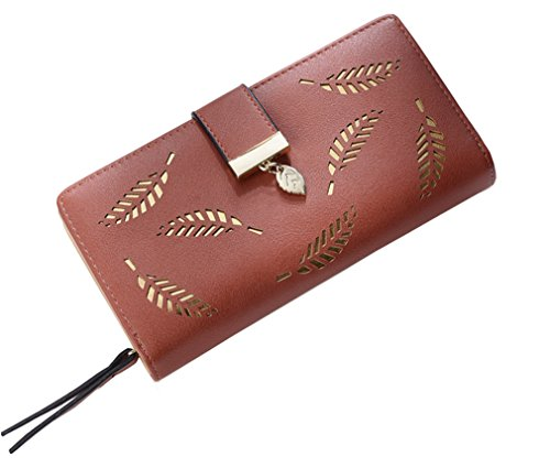 Yosohbag Women Wallet Leather Card Coin Holder Money Clip Long Phone Clutch Photo Purse (Photo Clutch Album)