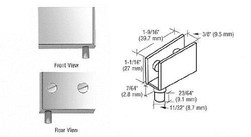 CRL Chrome Finish Glass Door Pivot Hinges - Package