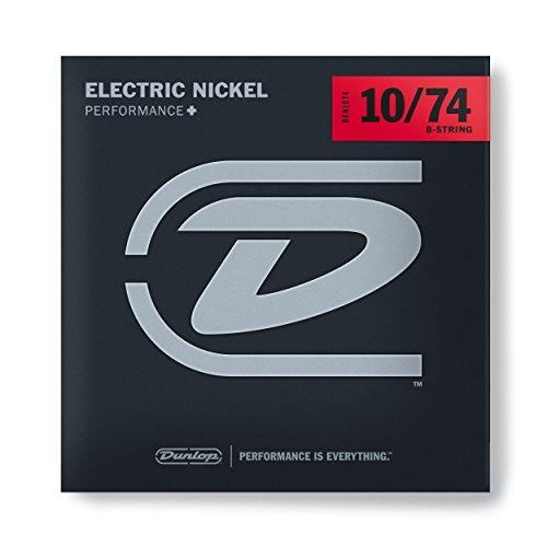 (Dunlop DEN1074 Nickel Wound Electric Guitar Strings, Medium, .010-.074, 8 Strings/Set)