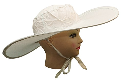 Perfect White Hat Box (Harbor 55 Summer Beach Hat For Women Foldable & Packable For Travel Wide Brim For Sun Protection, White)