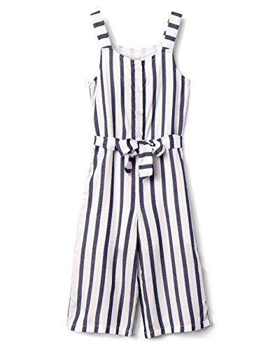 Gymboree Little Girls' Sleveless Striped Romper, Gym Navy Stripe, 10 by Gymboree