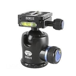 Sirui K-20X 38mm Ballhead with Quick Release, 55.1 lbs Load Capacity