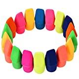 BELUPAID Pencil Erasers, Pencil Top Eraser Caps Suitable for a Variety of Standard Pencils Multiple Colors Pencil Eraser Toppers Used As Teaching Office Equipment Chisel Shape (200 in Bulk)
