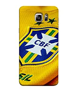 ColorKing Football Brazil 10 Yellow shell case cover for Samsung S6 Edge Plus