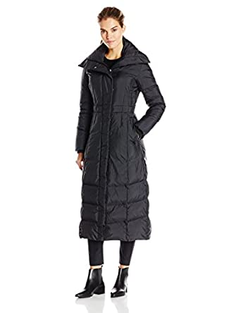 Cole Haan Women's Long Maxi Down Coat with Oversize Collar at ...