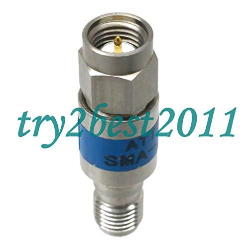 Attenuator Plug - FidgetKute Attenuator SMA Plug to Jack pin 2W 6dB DC-6.0GHZ 50Ω RF coaxial Stainless Steel Show One Size