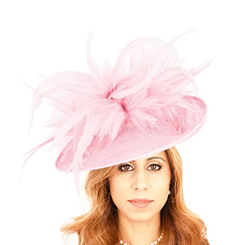 Hats By Cressida Gorgeous Buzzard Baby Pink Bow Ascot Derby Wedding Hat by Hats By Cressida