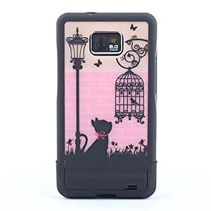 AES - Birdcage Pattern Hard Case for Samsung Galaxy S2 i9100 (Assorted Colors)