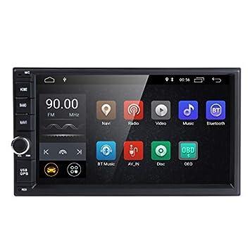Universal 2Din coche Auto Radio GPS navegación hizpo 7 Pulgadas pantalla táctil Android 8.1 OS 2