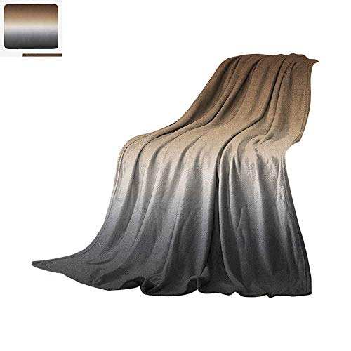 Luoiaax Ombre Lightweight Blanket Brown and Grey Pattern with Ombre Effect Abstract Modern Art Inspired Arrangement Velvet Plush Throw Blanket 50