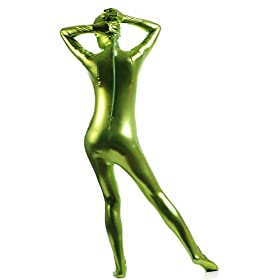 - 41Q0GponMPL - Ensnovo Womens Shiny Lycra Full Body Color Body Suits Zentai Costume