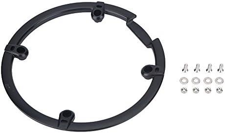 SolUptanisu 自転車チェーンホイール保護クランクリングサポートプラスチッククランクセットカバー マウンテンバイクチェーンアクセサリー バイクチェーンガードカバー ネジナットガスケット付き