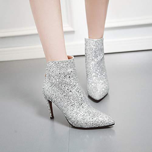 Donna 11 Chelsea Zcp15226 Jieeme Stivali Silver OTxIWw