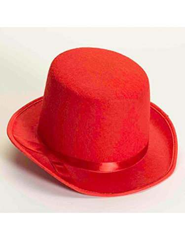 Forum Novelties Men's Deluxe Adult Novelty Top Hat, Red, One Size]()