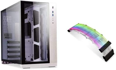 Lian Li PC-O11DW Dynamic Strimer 24 PINS Edition Mid Tower SECC//Tempered Glass Computer Case White