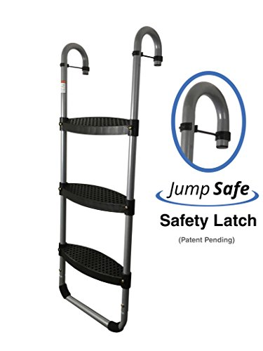 Trampoline Pro Wide 3-Step | Safety-Latch | No Slip | Trampoline Ladder by