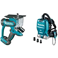 Makita XDS01Z 18V LXT Cut-Out Saw (Tool Only) XCV05ZX 18V X2 LXT (36V) Brushless Backpack Dust Extractor/Vacuum