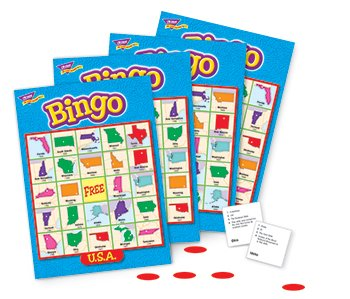 Trend Enterprises 6137 USA Bingo Game, 3-36 Players, 36 Cards/Mats