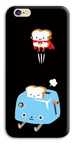 Mixroom - Cover Custodia Case In TPU Silicone Morbida Per Apple Iphone 6 6s X374 Tosta Pane Superman
