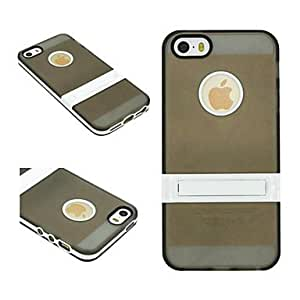 TLB iPhone 5/iPhone 5S compatible Solid Color Back Cover/Case with Kickstand