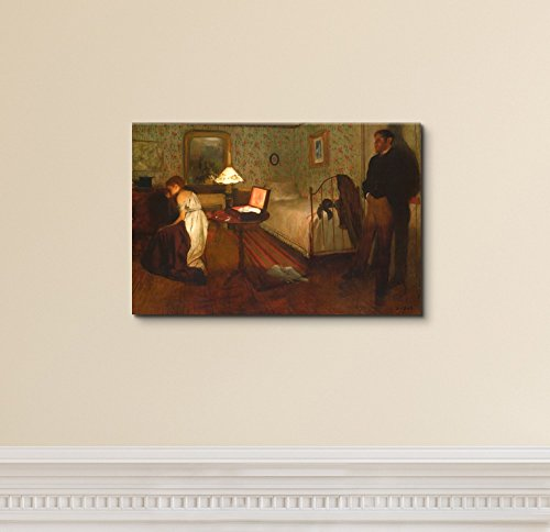 Interior (The Rape) by Edgar Degas Print Famous Painting Reproduction