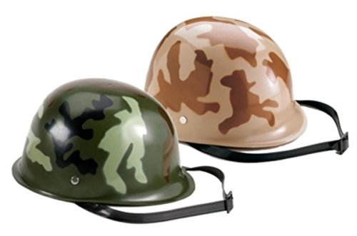 Kids Plastic Costume Helmet in Woodland or Desert Camo