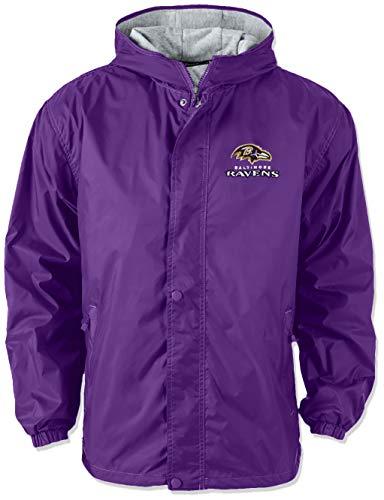 Dunbrooke Apparel NFL Baltimore Ravens Legacy Nylon Hooded Jacket, Large, -