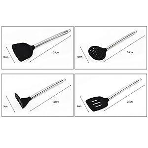 Kitchen Utensils Set,JmeGe 12 Piece Cooking Utensils - Nonstick Utensil Set - Silicone and Stainless Steel Kit - Best Kitchen Gadgets Kitchen Tool Set Gift
