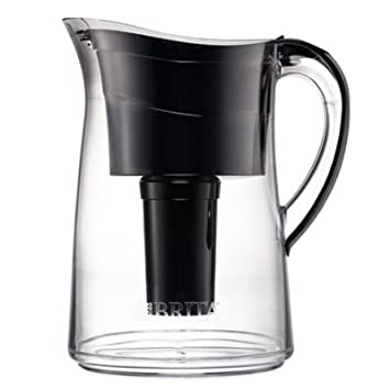 Brita Capri 10 Cup Water Filter Pitcher Black