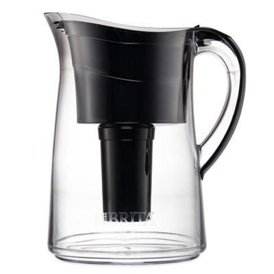 Glass Pitcher Water Filters (Brita Capri 10-cup Water Filter Pitcher Black)