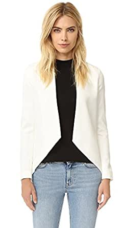 Blaque Label Women's Ivory Blazer, White, Medium