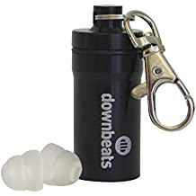 DownBeats Reusable High Fidelity Hearing Protection: Ear Plugs for Concerts, Music, and Musicians (Clear Ear Plugs, Black Case)