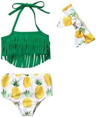 59cfd29360530 Baby Girl Babies Swimwear Tassels Floral Pinapple Bowknot Swimsuit Bathing  Suit Bikini Set Outfits Summer