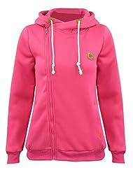 Azbro Fashion Turtleneck Oblique Zip Drawstring Hooded Sweatshirt