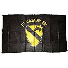 3x5 US Army 1st First Cavalry Division Black Super Polyester Nylon Flag 3'x5' House Banner 90cm x 150cm Grommets Double Stitched Premium Quality Indoor Outdoor Pole Pennant (Brand New)