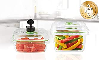 Foodsaver FFC015X-01 Fresh containers, Plástico, Transparente y ...