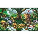 (99x164) Nature's Harmony Jungle Animals Huge Wall Mural