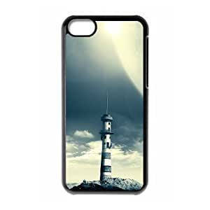 ALICASE Diy Hard Shell Case Lighthouse For Iphone 5C [Pattern-1]
