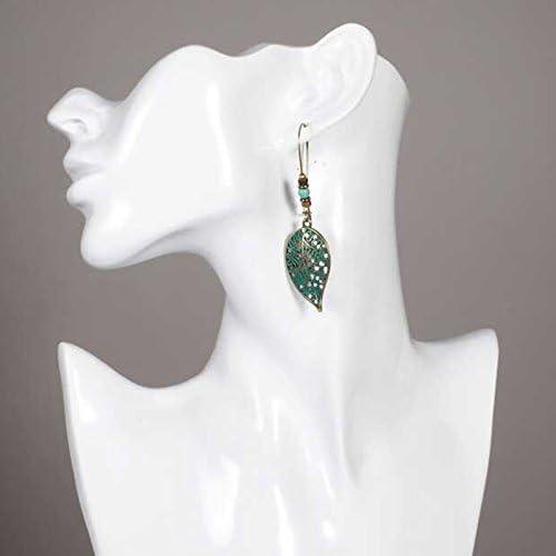 Doitsa 1 par Pendientes retros colgantes Pendientes de perlas Regalo para el D/ía de la madre Pendientes forma de la hoja