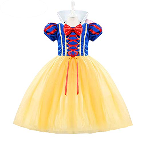 (Grils Princess Dress Snow White Cotume Halloween Party Carnival Fancy Dress up Size (100) 2-3 Years)