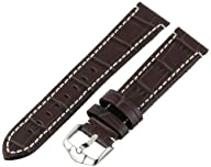 Hirsch 109028-10-20 20 -mm  Genuine Calfskin Alligator Embossed Watch Strap