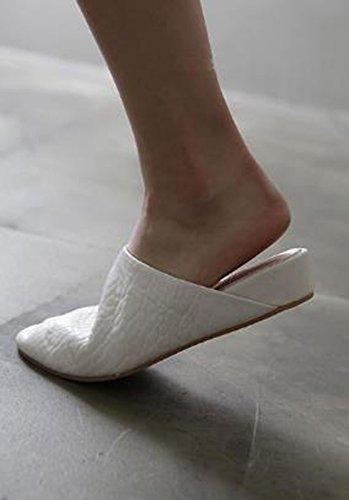 Transpirable blanco una Baotou Moda con arrastrar 35 zapatillas y con base elegante Sandalias 38 pendientes 3cm AJUNR soltar plana qBEOw