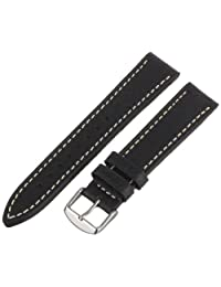 Hadley-Roma Men's MSM894RA-200 20mm Black Genuine Leather Watch Strap