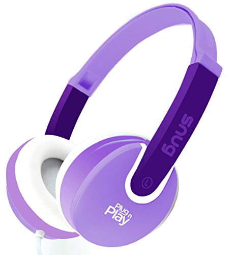 (Snug Plug n Play Kids Headphones for Children DJ Style (Purple))