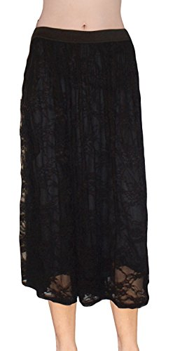 Ooh La La Long Elastic Waist Skirt (medium waist 28 hip 3...