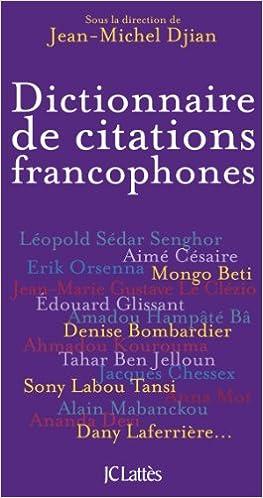 Livre gratuits en ligne Dictionnaire des citations francophones pdf, epub ebook