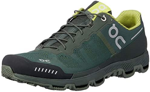 On Running Mens Cloudventure Forest Sulphur Mesh Trainers 42.5 EU