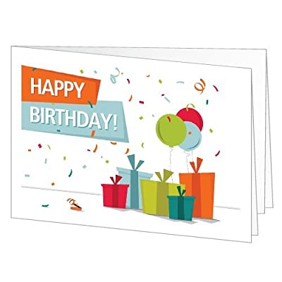 Happy Birthday (Presents) - Printable Amazon.co.uk Gift Certificate